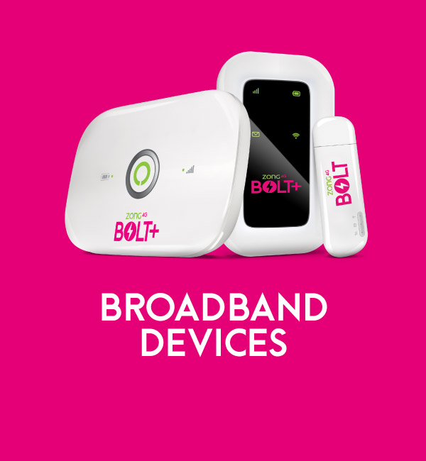Mobile Broadband (MBB) Devices - Zong Internet