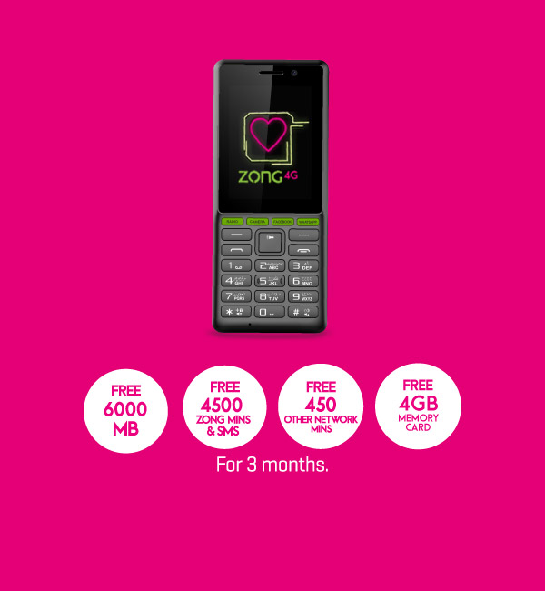 Digit 1 Android Phone (Free Mins, SMS, Data) - Zong Internet Devices