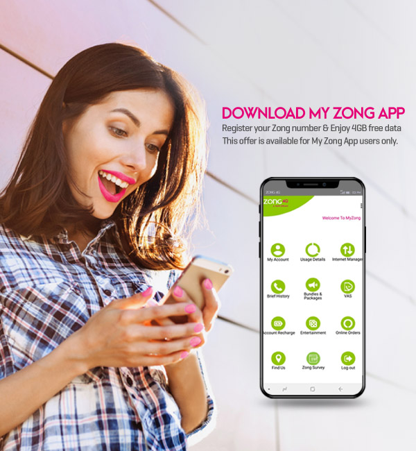 My Zong App Hero Slider