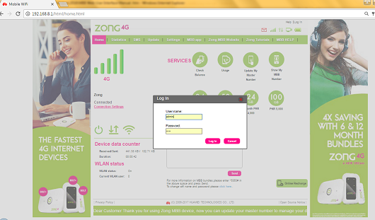 how to factory reset zong bolt