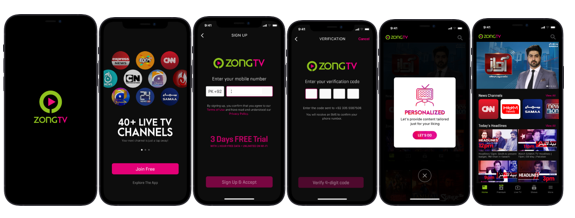 Zong TV App – Sign Up For Free