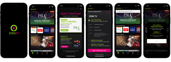 Zong TV – Package Subscription