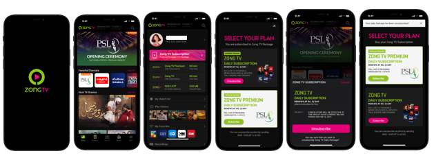 Zong TV – Package Un-Subscription